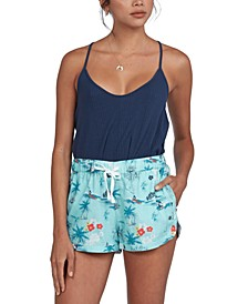 Juniors' There You Are Printed Shorts