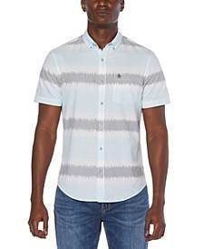 Men's Corded Striped Button-Down Shirt