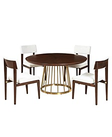 Nouveau 5pc Dining Set (Table & 4 Side Chairs)