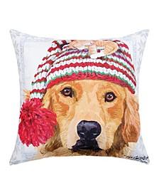 """Winter Hat Pillow, 18"""" x 18"""""""