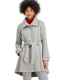 Juniors' Belted Skirted Coat