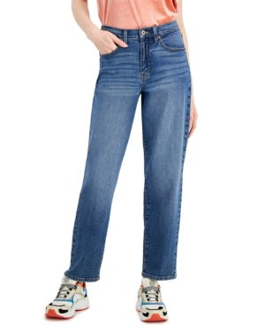Juniors' High Rise Straight Jeans