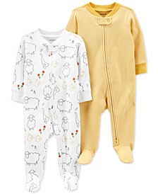 Baby Neutral 2-Pack Zip-Up Cotton Sleep & Plays