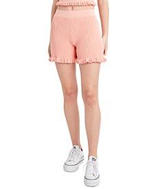 Ribbed Ruffled Shorts