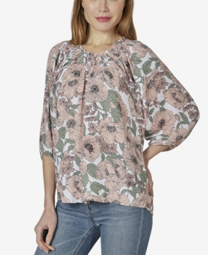 Women's On or Off The Shoulder 3/4 Sleeve Peasant Top