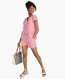 Cotton Eyelet Flounce Top, Created for Macy's