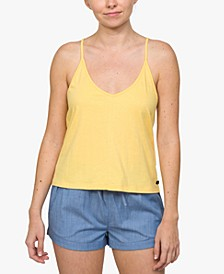Juniors' Cotton Strappy Low-Back Tank Top