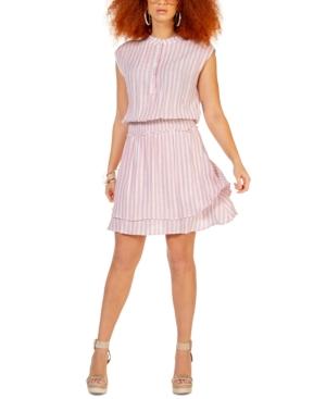 Striped Smocked-Waist Dress