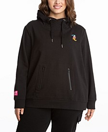 Plus Size French Terry Hoodie with Mask