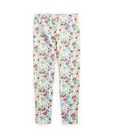 Big Girls Floral Stretch Jersey Legging Pants