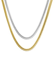 """Snake Link Chains in Gold or Fine Silver Plate in 18""""- 24"""""""