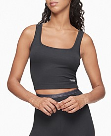 Pure Ribbed Cropped Tank Top