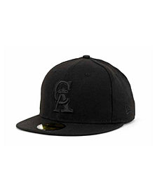 New Era Los Angeles Angels of Anaheim Black on Black Fashion 59FIFTY Cap