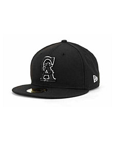 New Era Los Angeles Angels of Anaheim Black and White Fashion 59FIFTY Cap