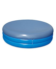 Deep Inflatable Round Family Pool with Cover, Set of 2