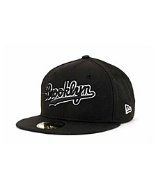 Brooklyn Dodgers Black and White Fashion 59FIFTY Cap
