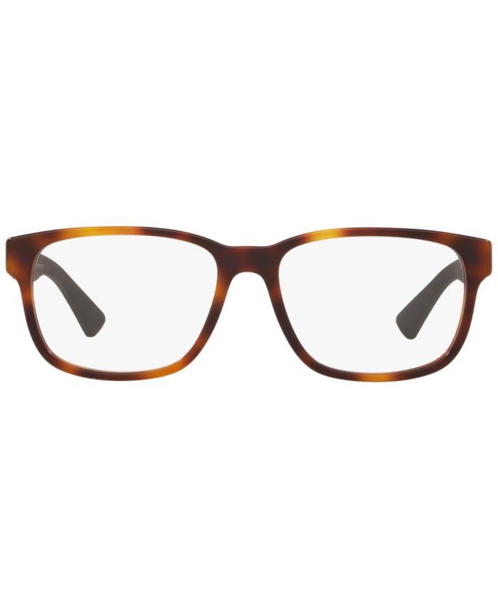 Gucci Gc001085 Men's Rectangle Eyeglasses & Reviews - Home - Macy's