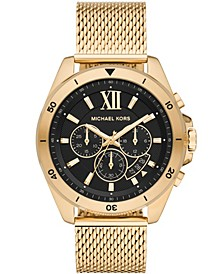 Men's Brecken Gold-Tone Stainless Steel Mesh Bracelet Watch 45mm