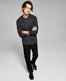 Men's Long Sleeve Henley T-Shirt