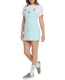 Juniors' Overall Mini Dress