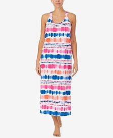 Plus Size Cotton Sleeveless Long Nightgown