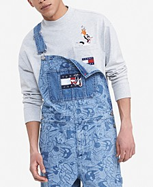 Tommy Hilfiger Men's Space Jam: A New Legacy x Tommy Jeans Denim Overalls