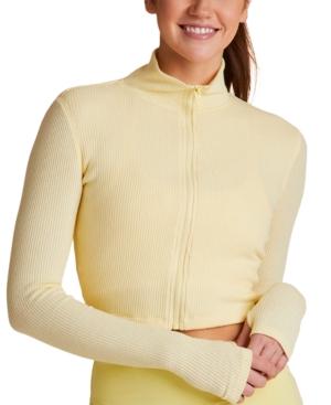 Rise Cropped Ribbed Sweatshirt