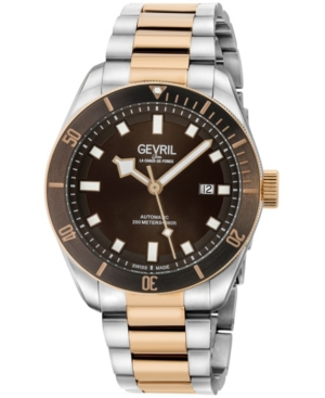 Men's Yorkville Swiss Automatic Two-Tone Stainless Steel Bracelet Watch 43mm