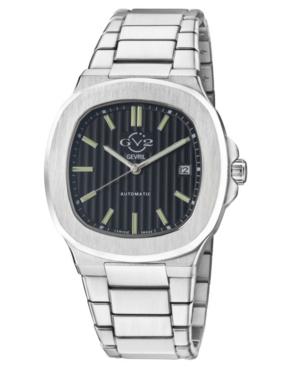 Men's Potente Swiss Automatic Silver-Tone Stainless Steel Bracelet Watch 40mm