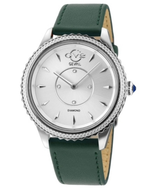 Women's Siena Swiss Quartz Green Italian Vegan Strap Watch 38mm