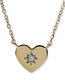 Jac + Jo by Diamond Accent Heart Diamond Cut Chain Necklace in 14k Yellow gold