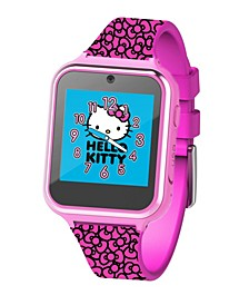 Hello Kitty Kid's Touch Screen Pink Silicone Strap Smart Watch, 46mm x 41mm