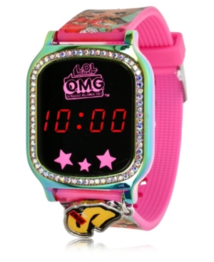 Omg Kid's Touch Screen Pink Silicone Strap Led Watch