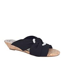 Women's Rexine Memory Foam Slide Sandal
