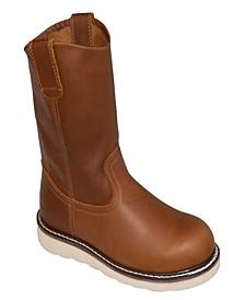 Men's Side Zipper Composite Toe Pull-on Wellington Boot