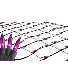 2' x 8' Purple Mini Tree Trunk Wrap Christmas Net Lights - Brown Wire