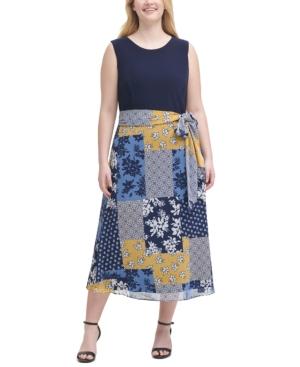 Plus Size Printed-Skirt Dress