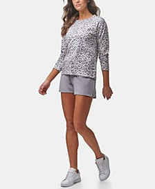 Women's Long Sleeve Printed French Terry Pullover