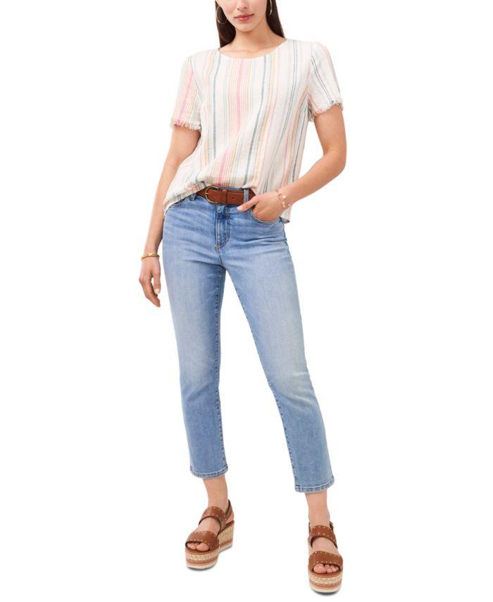 Vince Camuto Striped T-Shirt & Reviews - Tops - Women - Macy's