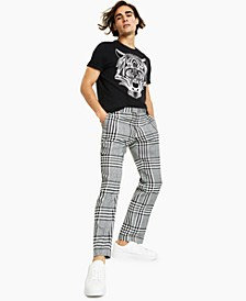 Men's Slim-Fit Plaid Pants, Created for Macy's