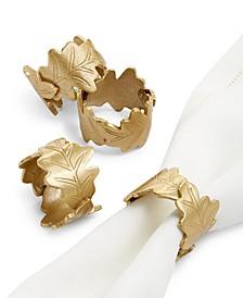 Harvest Leaf Napkin Rings, Set of 4, Created for Macy's