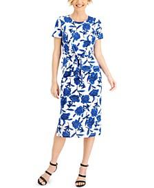 Floral-Print Tie Top & Skirt