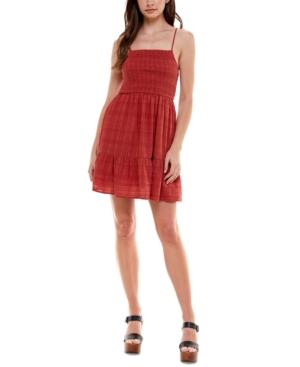 Juniors' Textured Fit & Flare Dress