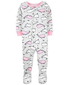 Toddler Girls Snug Fit Cotton Footed Pajama