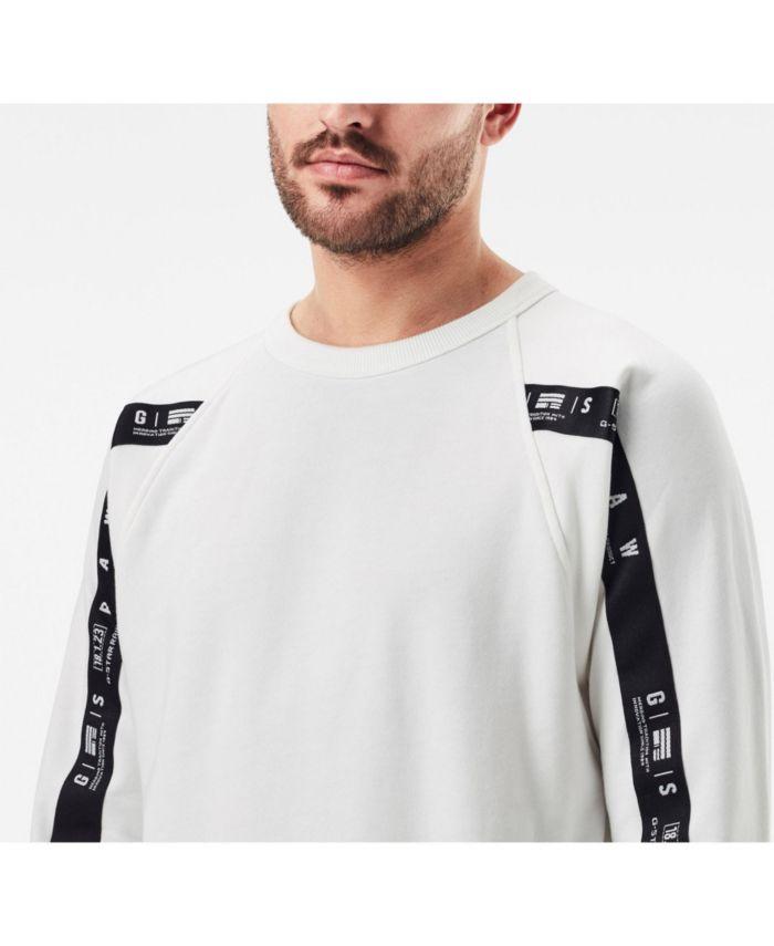 G-Star Raw Men's Raglan Taping Long Sleeve Sweater & Reviews - Hoodies & Sweatshirts - Men - Macy's