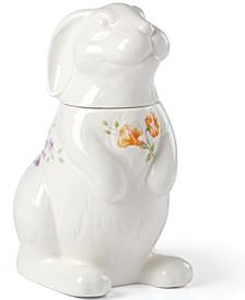 Butterfly Meadow Bunny Cookie Jar