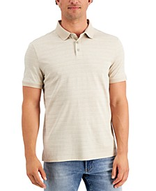 Men's Liquid Touch Regular-Fit Tile-Print Polo Shirt
