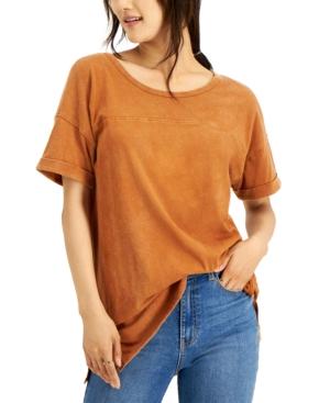 Juniors' Mineral Wash T-Shirt