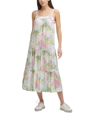 Printed Tiered Camisole Dress