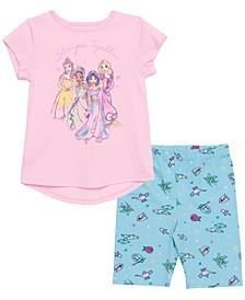 Toddler Girls Princess Stronger Short Sleeve Tee and Legging Set
